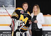 WINKLER, MB– Nov 8 2019: Game 13 - Team Atlantic v Team Manitoba during the 2019 National Women's Under-18 Championship at the Winkler Arena in Winkler, Manitoba, Canada. (Photo by Matthew Murnaghan/Hockey Canada Images)