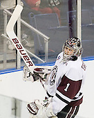 Troy Grosenick (Union - 1) - The University of Minnesota-Duluth Bulldogs defeated the Union College Dutchmen 2-0 in their NCAA East Regional Semi-Final on Friday, March 25, 2011, at Webster Bank Arena at Harbor Yard in Bridgeport, Connecticut.