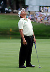 03 August 2008:  Spain's Juan Quiros reacts to a missed putt on the 18th green at the 2008 US Senior Open Championship at The Broadmoor, Colorado Springs, CO.