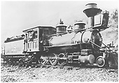 RGS 2-8-0 #19 with ltwo adies posing at Telluride.<br /> RGS  Telluride, CO  post 1903
