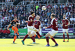 Sheffield United's Samir Carruthers fires in a shot during the League One match at the Sixfields Stadium, Northampton. Picture date: April 8th, 2017. Pic David Klein/Sportimage