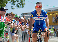 Philippe Gilbert (BEL/Quick Step floors) on his way to the pre race sign on. <br /> <br /> Stage 2: Mouilleron-Saint-Germain > La Roche-sur-Yon (183km)<br /> <br /> Le Grand Départ 2018<br /> 105th Tour de France 2018<br /> ©kramon
