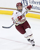 Laura Hart (BC - 27) - The Boston College Eagles and the visiting University of New Hampshire Wildcats played to a scoreless tie in BC's senior game on Saturday, February 19, 2011, at Conte Forum in Chestnut Hill, Massachusetts.