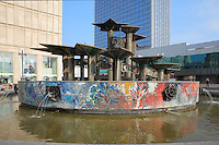 Peoples Friendship Fountain or Brunnen der Volkerfreundschaft, designed by Walter Womacka in 1969 as part of the redevelopment of Alexanderplatz, Berlin, Germany. Picture by Manuel Cohen