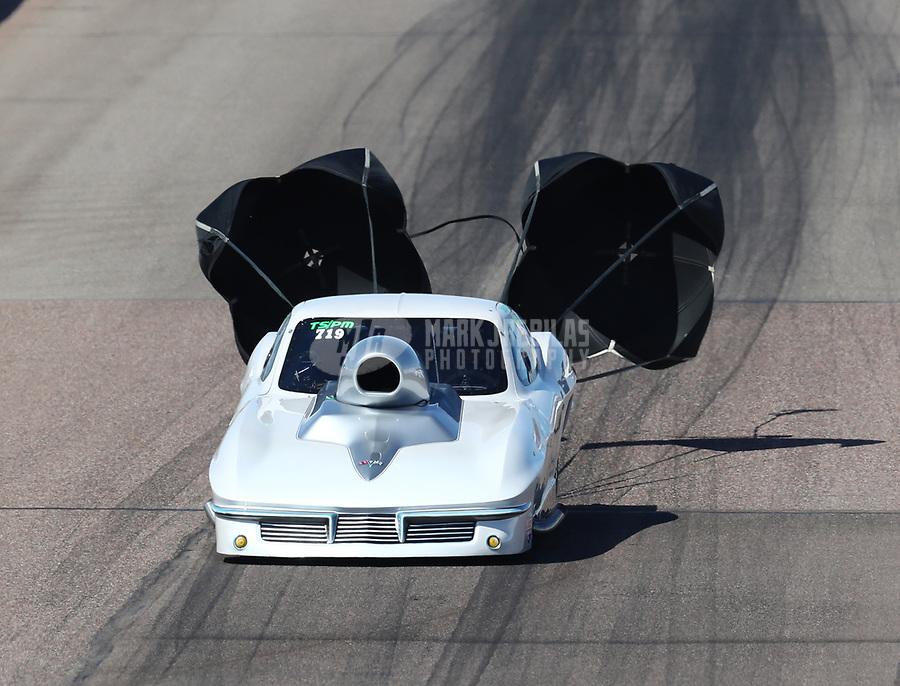 Feb 23, 2019; Chandler, AZ, USA; NHRA top sportsman driver David Armstrong during qualifying for the Arizona Nationals at Wild Horse Pass Motorsports Park. Mandatory Credit: Mark J. Rebilas-USA TODAY Sports
