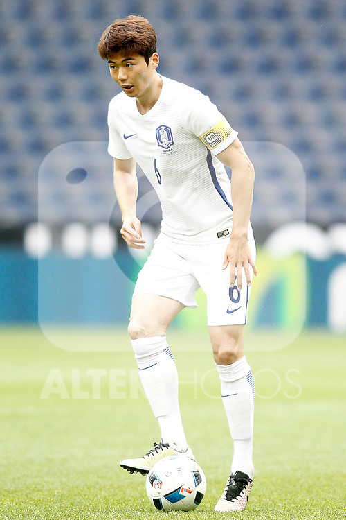 South Korea's Sungyueng Ki during friendly match. June 1,2016.(ALTERPHOTOS/Acero)
