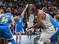 Jabari Bird of California shoots the ball during the game against UCLA at Haas Pavilion in Berkeley, California on February 19th, 2014.  UCLA defeated California, 86-66.
