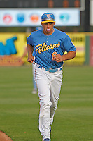 Myrtle Beach Pelicans infielder Mark Zagunis (6) before a game against the Wilmington Blue Rocks at Ticketreturn.com Field at Pelicans Ballpark on April 10, 2015 in Myrtle Beach, South Carolina.  Wilmington defeated Myrtle Beach 8-3. (Robert Gurganus/Four Seam Images)