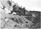C&amp;S passenger train in the mountains.<br /> C&amp;S
