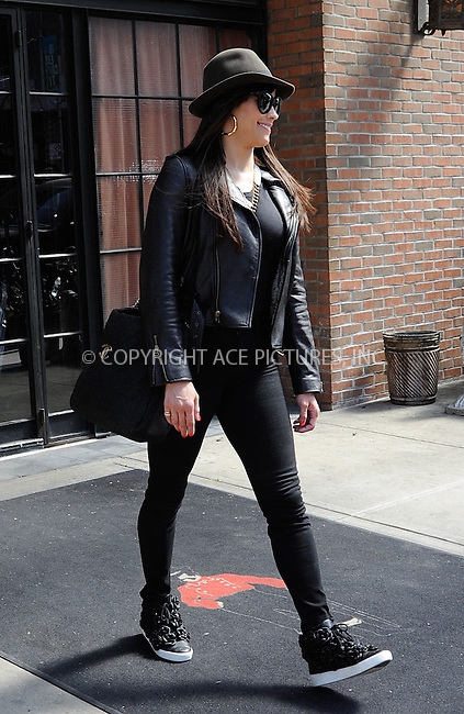 WWW.ACEPIXS.COM......April 9 2013, New York City....Actress Paula Patton leaving a downtown hotel on April 9 2013 in New York City....By Line: Curtis Means/ACE Pictures......ACE Pictures, Inc...tel: 646 769 0430..Email: info@acepixs.com..www.acepixs.com