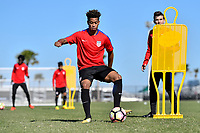 Lakewood Ranch, FL - Sunday Jan. 07, 2018: Akil Watts during an U-19 USMNT training session at Premier Sports Campus in Lakewood Ranch, FL.