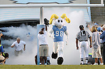 16 September 2006: Ramses, UNC's mascot, leads the players onto the field. The University of North Carolina Tarheels defeated the Furman University Paladins 45-42 at Kenan Stadium in Chapel Hill, North Carolina in an NCAA College Football game.