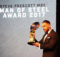 Picture by Simon Wilkinson/SWpix.com - 03/10/2017 - Rugby League BETFRED Super League Man of Steel Awards Dinner 2017 - The Steve Prescott MBE Man of Steel - Castleford LUKE GALE winner Man of Steel 2017