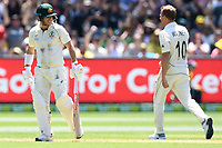 26th December 2019; Melbourne Cricket Ground, Melbourne, Victoria, Australia; International Test Cricket, Australia versus New Zealand, Test 2, Day 1; David Warner of Australia reacts after losing his wicket to a Neil Wagner of New Zealand bowl - Editorial Use