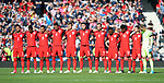 England's players observe a minutes silence for the recent terrorist attacks during the FIFA World Cup Qualifying match at Hampden Park Stadium, Glasgow Picture date 10th June 2017. Picture credit should read: David Klein/Sportimage
