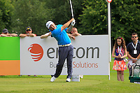 Damien McGrane (IRL) on the 10th tee during Round 2 of the Irish Open at Fota Island on Friday 20th June 2014.<br /> Picture:  Thos Caffrey / www.golffile.ie