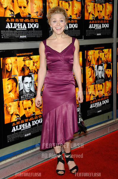 "DOMINIQUE SWAIN at the world premiere of her new movie ""Alpha Dog"" at the Arclight Theatre, Hollywood..January 3, 2007  Los Angeles, CA.Picture: Paul Smith / Featureflash"