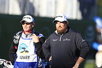 Shane Lowry (IRL) and caddy Dermot Byrne on the 4th tee Sunday's Final Round of the 2018 AT&amp;T Pebble Beach Pro-Am, held on Pebble Beach Golf Course, Monterey,  California, USA. 11th February 2018.<br /> Picture: Eoin Clarke | Golffile<br /> <br /> <br /> All photos usage must carry mandatory copyright credit (&copy; Golffile | Eoin Clarke)