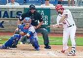 Washington Nationals third baseman Anthony Rendon (6) bats in the first inning against the New York Mets at Nationals Park in Washington, D.C. on Sunday, April 30, 2017.  The Nationals won the game 23 - 5.<br /> Credit: Ron Sachs / CNP