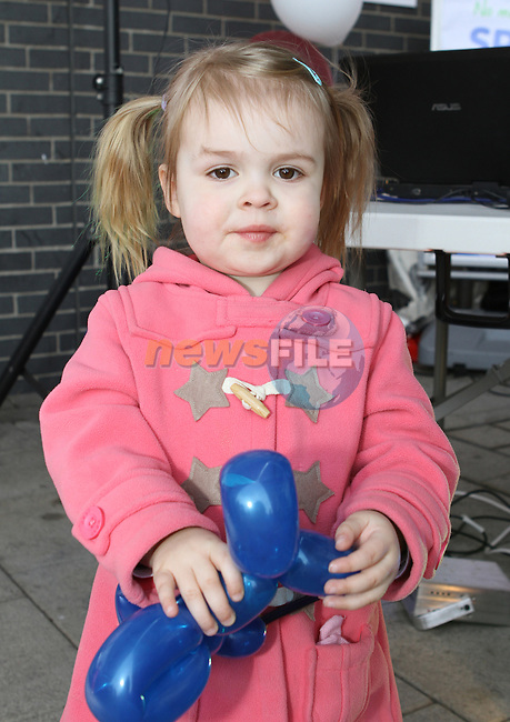 Daisy Dolan at the family Fun Day in the M1 Retail Park...(Photo Jenny Matthews/www.newsfile.ie)