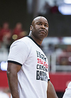 NWA Democrat-Gazette/BEN GOFF @NWABENGOFF<br /> Chris Crutchfield, Arkansas associate head coach, leads one of the teams in the second half Saturday, Oct. 5, 2019, during the annual Arkansas Red-White Game at Barnhill Arena in Fayetteville.