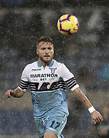Calcio, Serie A: SS Lazio vs Internazionale Milano, Olympic stadium, Rome, October 29, 2018.<br /> Lazio's Ciro Immobile in action during the Italian Serie A football match between SS Lazio and Inter Milan at Rome's Olympic stadium, on October 29, 2018.<br /> UPDATE IMAGES PRESS/Isabella Bonotto