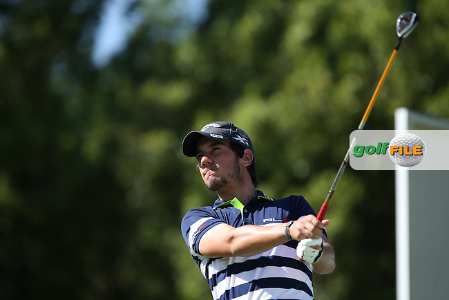 Matteo Manassero (ITA) drives to the 17th during Round Two of the Tshwane Open 2015 at the Pretoria Country Club, Waterkloof, Pretoria, South Africa. Picture:  David Lloyd / www.golffile.ie. 13/03/2015