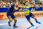 Alexander PETERSSON (#32 Rhein-Neckar Loewen) \ beim Spiel in der Handball Bundesliga, SG BBM Bietigheim - Rhein Neckar Loewen.<br /> <br /> Foto &copy; PIX-Sportfotos *** Foto ist honorarpflichtig! *** Auf Anfrage in hoeherer Qualitaet/Aufloesung. Belegexemplar erbeten. Veroeffentlichung ausschliesslich fuer journalistisch-publizistische Zwecke. For editorial use only.