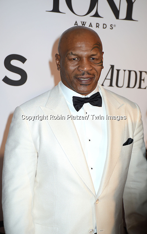Mike Tyson attend the 67th Annual Tony Awards on Sunday, June 9th at Radio City Music Hall in New York City.