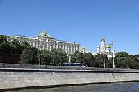 Blick von der Moskwa auf die Rüstkammer des Kreml - 15.06.2018: Sightseeing Moskau