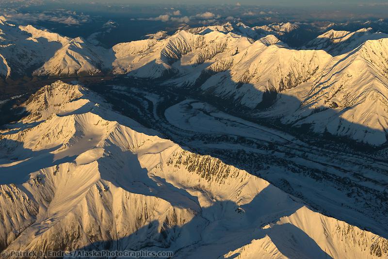 Muldrow glacier flowing out of the Alaska Range mountains, Denali National Park, Interior, Alaska.