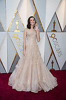 Actress Allison Williams arrives on the red carpet of The 90th Oscars&reg; at the Dolby&reg; Theatre in Hollywood, CA on Sunday, March 4, 2018.<br /> *Editorial Use Only*<br /> CAP/PLF/AMPAS<br /> Supplied by Capital Pictures