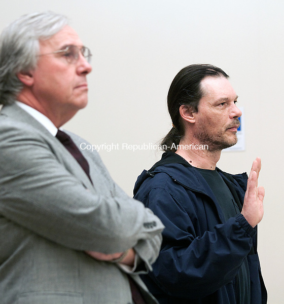 WATERBURY CT- DECEMBER 12  2012 -121212DA01- William Lampron, 43, of Naugatuck was arraigned at Waterbury Superior  on Wednesday. Lampron a former city employee was charged with trying to poison his former boss with oatmeal laced with SpeedyDry..Darlene Douty Republican American