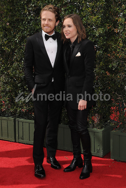 11 September 2016 - Los Angeles, California. Ian McDaniel, Ellen Page. 2016 Creative Arts Emmy Awards - Day 2 held at Microsoft Theater. Photo Credit: Birdie Thompson/AdMedia