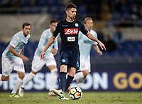 Calcio, Serie A: Roma, stadio Olimpico, 20 settembre 2017.<br /> Napoli's Jorginho kicks a penalty during the Italian Serie A football match between Lazio and Napoli at Rome's Olympic stadium, September 20, 2017.<br /> UPDATE IMAGES PRESS/Isabella Bonotto