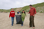 Trillium, Kaya & J. On Beach Cleanup