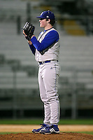 February 20, 2009:  Pitcher Collin McGowan (42) of Seton Hall University during the Big East-Big Ten Challenge at Jack Russell Stadium in Clearwater, FL.  Photo by:  Mike Janes/Four Seam Images