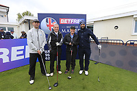 Lee Slattery (ENG) and team during the Hero Pro-am at the Betfred British Masters, Hillside Golf Club, Lancashire, England. 08/05/2019.<br /> Picture Fran Caffrey / Golffile.ie<br /> <br /> All photo usage must carry mandatory copyright credit (&copy; Golffile | Fran Caffrey)