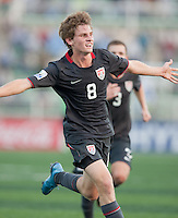 Alex Shinsky celebrates his goal. US Men's National Team Under 17 defeated Malawi 1-0 in the second game of the FIFA 2009 Under-17 World Cup at Sani Abacha Stadium in Kano, Nigeria on October 29, 2009.