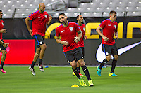 Glendale, AZ - Friday June 24, 2016: Clint Dempsey of the United States during a training prior to the third place match of the Copa America Centenario at the University of Phoenix Stadium.<br /> Action photo during of the United States team training before the game against the selection of Colombia for third place in the America Cup Centenary 2016 at University of Phoenix Stadium<br /> <br /> Foto de accion durante el Entrenamiento de la Seleccion de Estados Unidos previo al partido contra la Seleccion de Colombia por el tercer lugar de la Copa America Centenario 2016, en el Estadio de la Universidad de Phoenix, en la foto: Clint Dempsey de USA<br /> <br /> <br /> 24/06/2016/MEXSPORT/Victor Posadas.