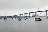 USA, California, San Diego, bridge leading out Coronado Island in San Diego