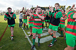 Waiuku players thanks their fans at the conclusion of the Counties Manukau Premier Club Rugby final between Patumahoe & Waiuku played at Bayers Growers Stadium Pukekohe on Saturday August 8th 2009. Patumahoe won 11 - 9 after leading 11 - 6 at halftime.