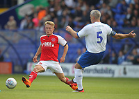 Fleetwood Town's Kyle Demsey battles with Tranmere Rovers Stephen McNulty<br /> <br /> Photographer Mick Walker/CameraSport<br /> <br /> Football Pre-Season Friendly - Tranmere Rovers  v Fleetwood Town  - Saturday 21st July 2018 - Prenton Park - Tranmere<br /> <br /> World Copyright &copy; 2018 CameraSport. All rights reserved. 43 Linden Ave. Countesthorpe. Leicester. England. LE8 5PG - Tel: +44 (0) 116 277 4147 - admin@camerasport.com - www.camerasport.com