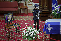 Former Quebec premier Jacques Parizeau lying in state at the National Assembly in Quebec City on Sunday June 7, 2015.