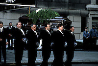 CASKET BEARING JACQUELINE KENNEDY ONASSIS LEAVING HER APARTMENT IN NEW YORK CITY.PHOTO BY JONATHAN GREEN