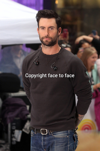 Adam Levine of Maroon 5 performing on NBC's &quot;Today&quot; Show Toyota Concert Series at Rockefeller Plaza in New York, 14.06.2013. <br />