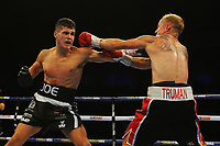 Joseph Laws defeats Chris Truman via decision during a Boxing Show at the Metro Radio Arena on 13th October 2018