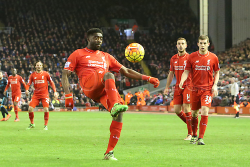 02.03.2016. Anfield Stadium, Liverpool, England. Barclays Premier League. Liverpool versus Manchester City<br />