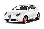 2015 Alfaromeo Mito 600H-L-President-Line 4 Door Sedan Angular Front stock photos of front three quarter view