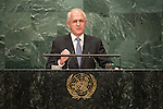Australia<br /> H.E. Mr. Malcolm Turnbull<br /> Prime Minister<br /> <br /> General Assembly Seventy-first session 10th plenary meeting<br /> General Debate